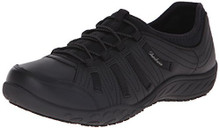 Skechers Women's Work Relaxed Fit Rodessa Slip Resistant Shoe,Black