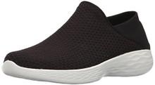 Skechers You by Women's You Slip-on Shoe,Black/White
