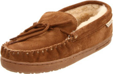 BEARPAW Slippers Boys Moc II Sheepskin Rubber 4 Youth Hickory 1295Y