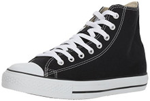 Converse All Star Hi Unisex Style Sneakers, Black, Men's 7 Women's 9