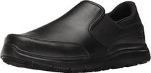 Skechers Work Men's Flex Advantage SR - Bronwood Black Leather Loafer 7.5 D (M)