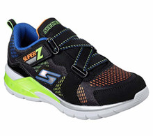 Skechers 90552N Kids' S Light: Erupters II Sneaker, Black/Lime