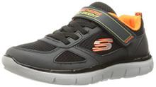 Skechers Kids Boys' Flex Advantage 2.0 Sneaker,Charcoal/Black,Little Kid