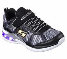 Skechers Kids Boys' Erupters II-Lava Waves Sneaker,Black/Silver, Little Kid