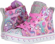 Skechers Kids Girls' TWI-Lites-Princess Party Sneaker, Multi, Little Kid