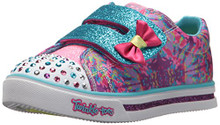 Skechers Kids Girls' Sparkle Glitz-Lil' Dazzle Sneaker,hot Pink/Multi, Little Kid