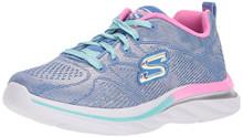Skechers Kids Girls' Quick Kicks Sneaker,Periwinkle,Little Kid