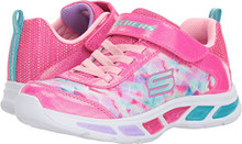 Skechers Kids Girls' Litebeams-Dance N'Glow Sneaker,neon Pink/Multi,Little Kid