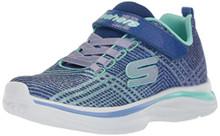 Skechers Kids Girls' Double Dreams Sneaker,Blue/Aqua Little Kid