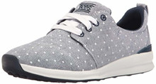 Skechers BOBS from Women's Phresh-Phresh Flowers Fashion Sneaker, Navy Dot