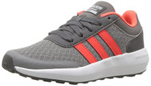 adidas Boys' CF Race K Sneaker, Grey Three/Solar Red/Grey Five Little Kid