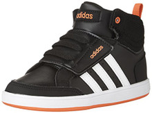 adidas Boys' Hoops CMF Mid Inf Sneaker, Black/White/Solar Red Toddler