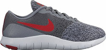 New Nike Boy's Flex Contact Athletic Shoe Grey/Red 4