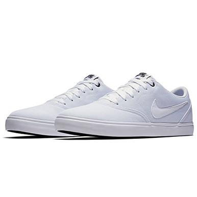 huge selection of e267e a9c8c ... Nike Men s SB Check Solar Canvas Skate Shoe, Sneaker, White  White.  Image 1