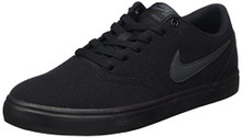 NIKE Unisex SB Check Solar CNVS Black/Anthracite Skate Shoe 10 Men