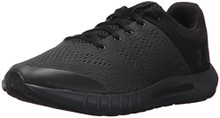 Under Armour Boys' Grade School Pursuit Sneaker, Anthracite (100)/Black