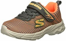 Skechers Kids Boys' Eclipsor-Wide Sneaker,Orange/Charcoal,8 W US Toddler