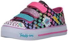 Skechers Kids Kids' Shuffles-Poppin' Posse Sneaker,Black/Multi,11 M US Little Kid