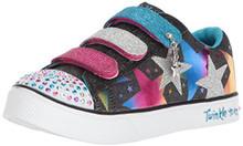 Skechers Kids Girls' Twinkle Breeze 2.0-Stylin'Sta Sneaker,Black/Multi,3 Medium US Little Kid