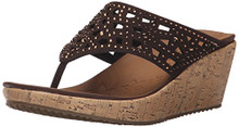 Skechers Cali Women's Beverlee Wedge Sandal,Chocolate,10 M US