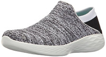 Skechers Women's You Slip-on Shoe,White/Black,9 M US