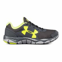 Under Armour Boys Micro g Engage Fabric, Black/White/Silver, Size 5.5 Big Kid M