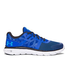 Under Armour Kids Boy's UA BGS Shift RN 2 (Big Kid) Ultra Blue/Black/Meridian Blue Sneaker 6 Big Kid M