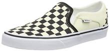 VANS Asher Womens Checker board Slip On Shoes 9M (9, White)