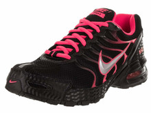 a28bfda388333 NIKE Women s Air Max Torch 4 Running Shoe Black Metallic Silver Pink Flash  Size