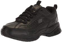 Skechers for Work Men's Galley Sneaker, Black, 11 W US