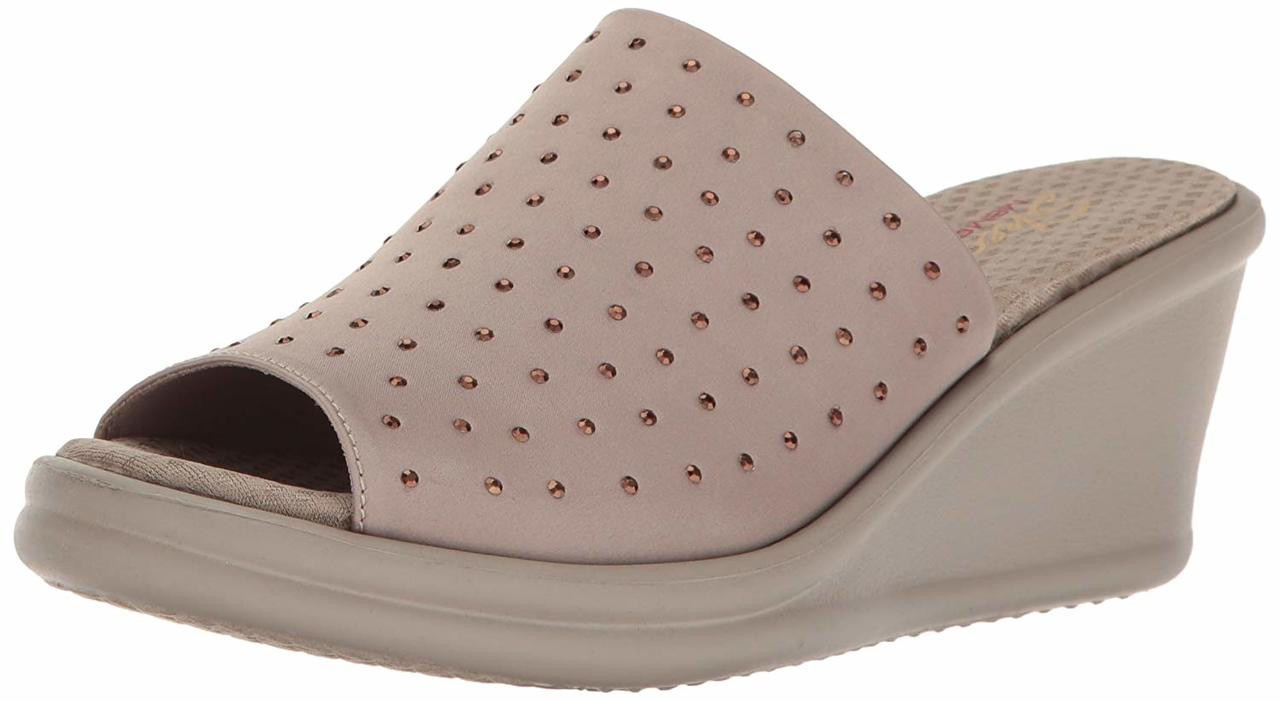 539b8789f65c Skechers Cali Women s Rumblers-Silky Smooth Slide Sandal