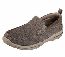 Skechers 65626 Men's Relaxed Fit Harper-Deren Sneaker, Taupe