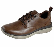 Skechers 65759 Men's Harsen-Relago Oxford Shoe, Desert