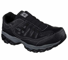Skechers 77161 Men's Work: Crankton Ebbitt Steel Toe Shoe, Black