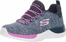 Skechers Kids Girls Twinkle Toes: Twinkle Shine 10932L (Little Kid/Big Kid) Black/Hot Pink Little Kid