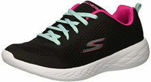 Skechers Kids Girls Dream N'Dash-Pep IT up Sneaker, Gray/Pink, Little Kid