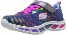 Skechers Kids Girls Energy Lights-10947L Sneaker, Rose Gold, Big Kid