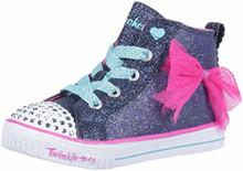 Skechers Kids Girls GO 600-FUN Run Sneaker, BKMT, Big