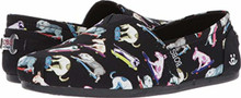 BOBS from Skechers Womens Bobs Plush-Wag Town Flat, Black/Multi