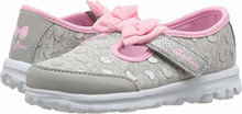 Skechers Go Walk-Bitty Hearts Girls' Infant-Toddler Slip On Toddler Grey-Pink