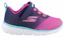 Skechers Kids Baby Girl's Go Run 400 (Toddler) Navy/Pink Toddler