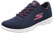 Skechers Performance Women's Go Walk Lite-15350 Sneaker,Navy/Pink