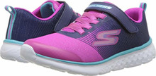 Skechers Kids Girl's Go Run 400 (Little Kid/Big Kid) Navy/Pink Big Kid