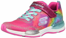 Skechers Kids Girl's Jumptech 81514L (Little Kid/Big Kid) Neon Pink/Multi Little Kid