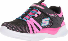 Skechers Kids Girl's Tech Groove (Little Kid/Big Kid) Black/Hot Pink Little Kid