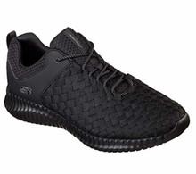 Skecher (52864 Men's Elite Flex - Belser Shoe (US M) (Black)