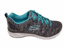 Skecher Women's Pisa – Petal Joy Sneakers (Charcoal/Turquoise)