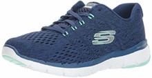 Skechers Women's Flex Appeal 3.0 Sneaker, Navy Green