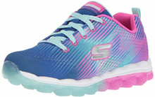 Skechers Kids Girl's Skech-Air-Bounce N'Bop Sneaker,Blue/hot Pink, 5.5 Medium US Big Kid