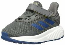 Adidas Baby Duramo 9 I, Grey/Legend Marine/Shock Yellow, 7K M Us Toddler